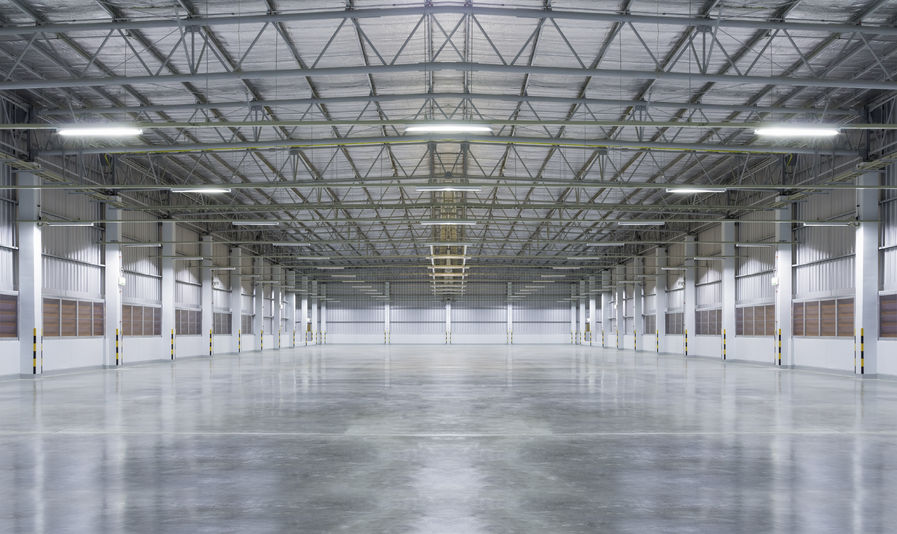 30595441 - factory background with concrete floor, night scence.